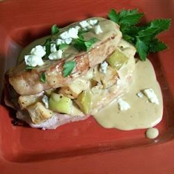 Stuffed Pork Chops with Gorgonzola and Apple Recipe