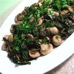Mushrooms and Spinach Italian Style