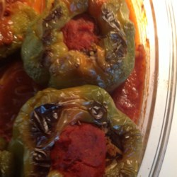 Beef and Rice Stuffed Bell Peppers Recipe