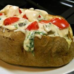 Stuffed Alfredo Baked Potatoes