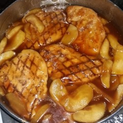 Easy Chicken Cutlets with Apples Recipe