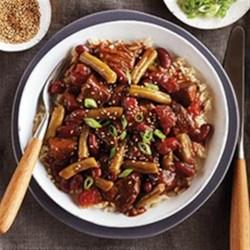 Teriyaki Beef & Bean Rice Bowls from Del Monte(R)