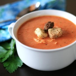 Tomato Bisque with Chicken