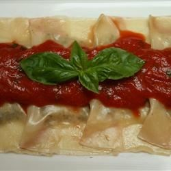 Photo of Mushroom and Mascarpone Ravioli by Chef Jean Pierre