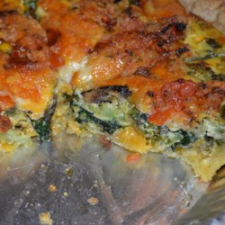 Loaded Vegetarian Quiche Recipe