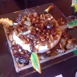 Baked Brie with Caramelized Pears, Shallots and Thyme
