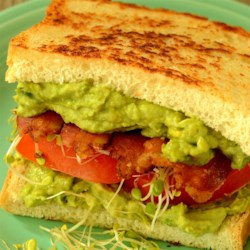 Midnight Snack Avocado Sandwich