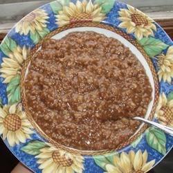 Chocolate Banana Oatmeal Porridge