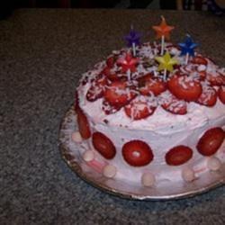 Vanilla Layer Cake with Strawberries Recipe