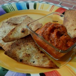 Slightly Spicy Roasted Red Pepper Dip Recipe