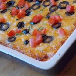 Sandie's Seven-Layer Bean Dip