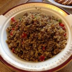 Dirty Quinoa with Venison Burger Recipe