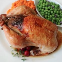 Cranberry Stuffed Game Hens