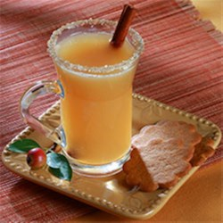 Caramel Apple Cider with Salty-Sweet Rim Recipe