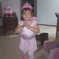 Paige as a fairy princess.
