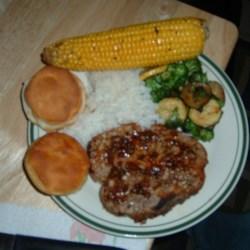 honeyed pork chops