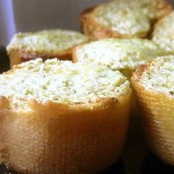 Basil Pesto Bread Rounds Recipe