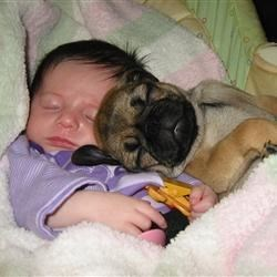 Livi and her pug, Beth
