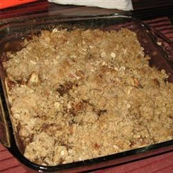 Honey Apple Crisp, I added 1 C. finely chopped pecans to the crust mix