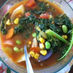 Chunky Vegetarian Vegetable Soup (Fast and Easy) Recipe