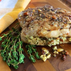 Pesto Stuffed Pork Chops Recipe