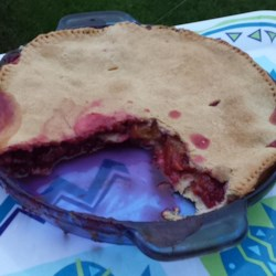 Raspberry-Peach Pie Recipe