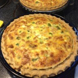 Asparagus and Swiss Cheese Quiche  Recipe