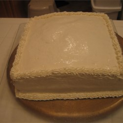 Whipped Cream Cheese Frosting on a carrot cake