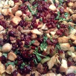 Turkey Sausage Apple & Cranberry Stuffing