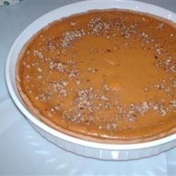 Perfect pumpkin pie with garnish