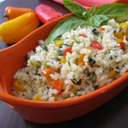 Sunny Pepper Parmesan Rice with Spinach Recipe