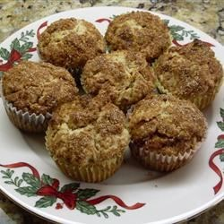 Oatmeal Muffins (with added Walnuts, Apples, and Cinnamon)