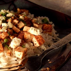 Tofu, Red Onions, Walnuts, and Blue Cheese Recipe