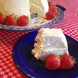 Angel food cake recipes allrecipes angel food refrigerator cake recipe vanilla pudding mix lemon yogurt and whipped topping forumfinder Image collections