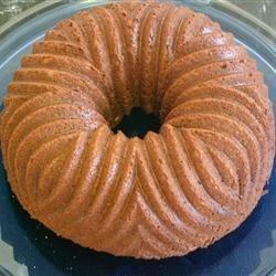 Gingerbread in pretty bundt pan
