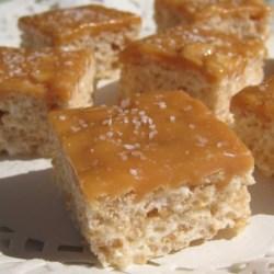 Salted Caramel Marshmallow Crispy Treats (Gluten Free) Recipe