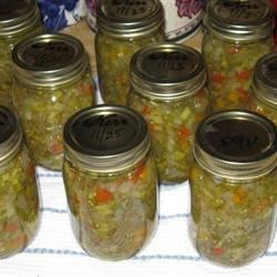 Green Tomato Relish w/ Bannan Peppers