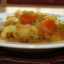 Ethiopian Cabbage Dish (tikil gomen)