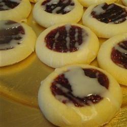 Raspberry and Almond Shortbread Thumbprints