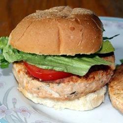 Salmon Rosemary Burgers