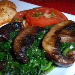 Sauteed Portobellos and Spinach Recipe