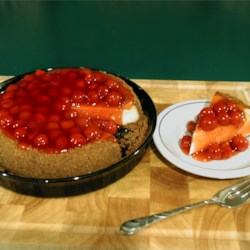 Killer Cheesecake (with cheery pie filling)