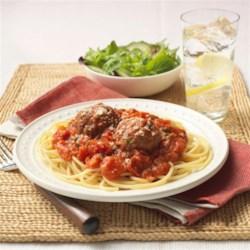 Classic Spaghetti and Parmesan Meatballs