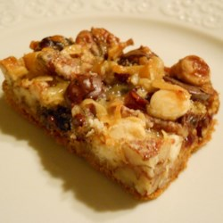 Coconut-Cranberry Bars with Pecans Recipe