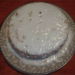 White Cake Glazed With Lime Infused Coconut Icing