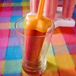 Colorful strawberry lemonade ice pop