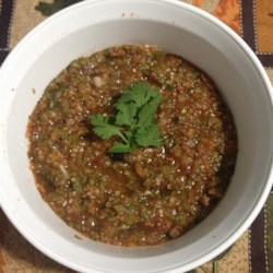Smoky Four-Pepper Salsa Recipe