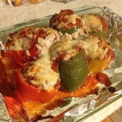 Di's Stuffed Green Peppers Recipe