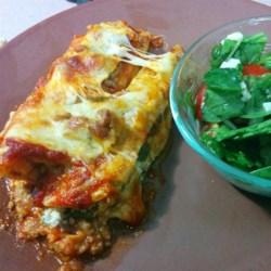 spinach manicotti with italian sausage printer friendly