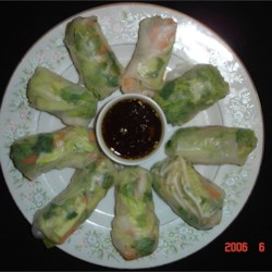 Fresh Spring Rolls With Thai Dipping Sauce